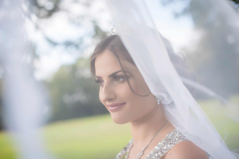 Manchester Wedding Photography bride veil