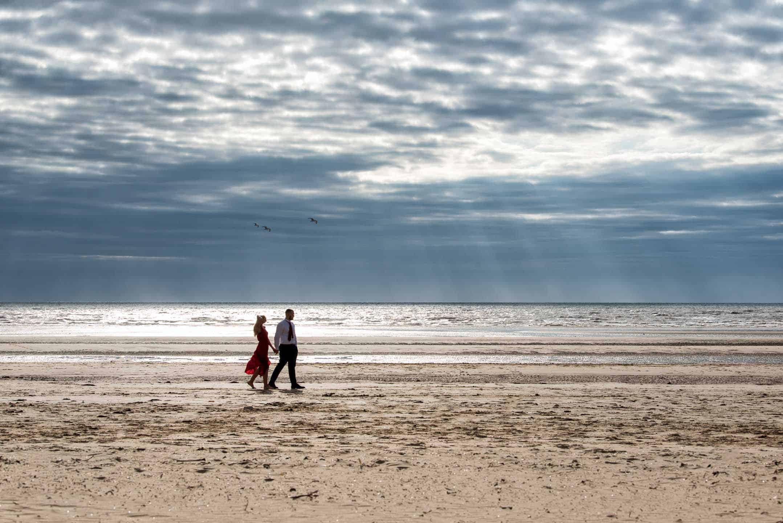 Manchester Wedding Photography pre-wedding beach
