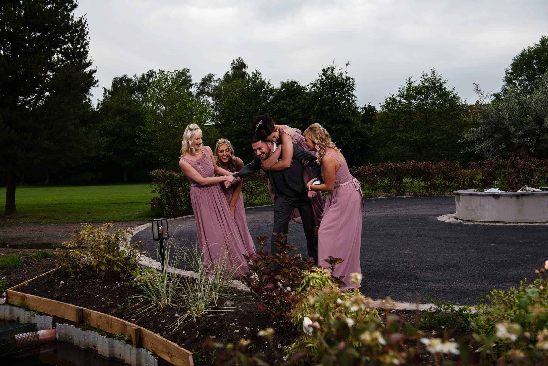 Manchester Wedding Photography at Room One Hartford having fun